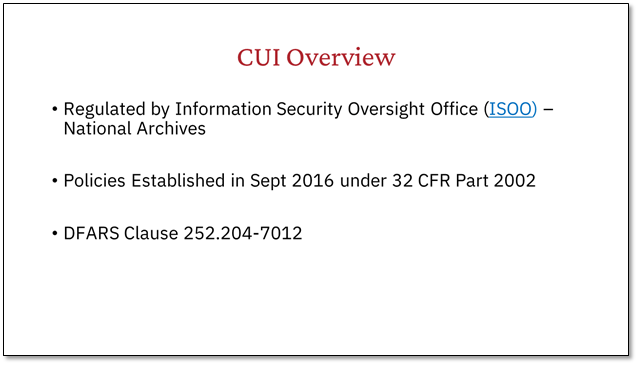 CUI-Overview